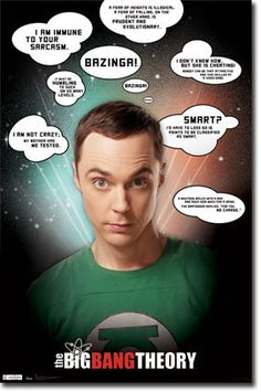 The Big Bang Theory Sheldon Cooper Quotes Jim Parsons Poster | eBay