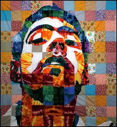 Luke Haynes - a quilt self-portrait - one of several he's done