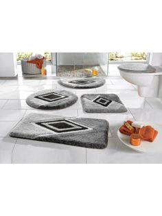badmatten grijs en zwart