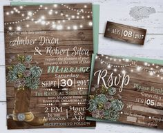 Country Wedding Invitations, Printable Rustic Wedding Invitation, Summer Floral Wedding, Cowboy Boot, String Lights Barn Wedding Invite Mint by X3designs