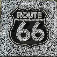 Check out this item in my Etsy shop https://www.etsy.com/listing/553962050/route-66-string-art