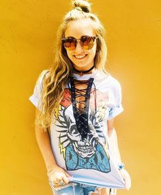 WEBSTA @ shoptrendyandtipsy - ⚡️GRATEFUL DEAD LACE UP TEE⚡️ Available In-store and Online!!🔥❤️🔥 #trendyandtipsy #gratefuldead #laceitup #vintage #oneofakind
