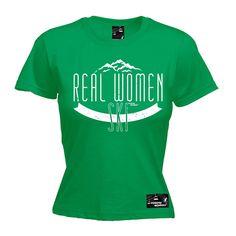 Powder Monkeez Women's Real Women Ski Skiing T-Shirt