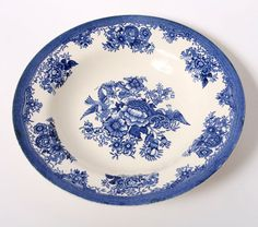 blue white plate china porcelain norway egersund by northvintage, kr150.00