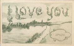 #Spring Fonts made of flowers, postmarked 1911  via @JAStokesNJ