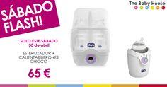 """Sábado """"flash"""", 30 de abril: esterilizador + calientabiberones por 65 euros"""