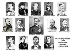 US 7th Calvary Officers killed at the Battle of the Little Big Horn