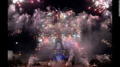 #BastilleDay fireworks burst around the Eiffel Tower during the annual celebrations in Paris on Monday, July 14. The festivities commemorate the beginning of the French Revolution with the storming of the Bastille in 1789. http://bastille-day.com