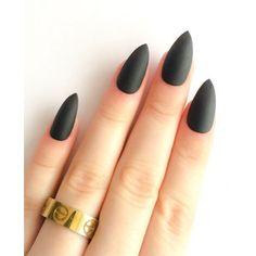 Matte Black False Nails