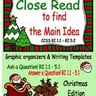 Close Read to get the Main Idea ~ CHRISTMAS Edition GREAT guided reading/close reading lesson for getting OBSERVED for grades 1- 5!    I like to te...