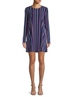 $29.0. BCBGENERATION Dress Striped Long-Sleeve A-Line Dress #bcbgeneration #dress #clothing Bcbgeneration, Striped Dress, Polyester Spandex, Pullover, Long Sleeve, Casual, Clothing, Sleeves, How To Wear