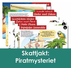 """Skattjakt: Piratmysteriet 4-6 årPirater  är ett populärt tema för barnkalas! Vår piratskattjakt """"gör""""  barnkalaset och är den enda aktivitet som behövs! Piratkaptenen  Tveskäggs värsta fiende, den grymme kapten Svartskägg, är ute efter hans  fantastiska sjörövarskatt! #barnkalas #kalas #lekar #barnkalaslekar #kalaslekar #skattjakt #mysterier Grape Vines, Porto, Dinosaurs, Vineyard Vines, Vines"""
