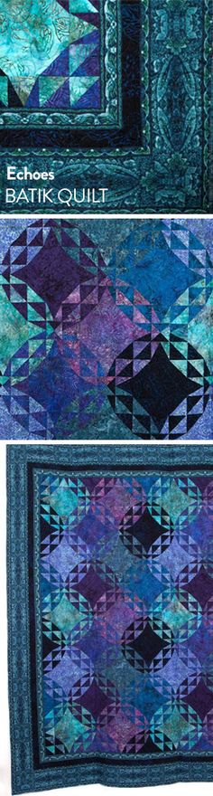 Don't miss out on this dazzling fusion of two exquisite Jinny Beyer's collections! Your Echoes Quilt Kit includes a pattern and fabric from both Malam Batiks and Chelsea, to sew a gorgeous quilt with a stunning, three-dimensional effect. Choose from a range of captivating colorways and get your kit today!