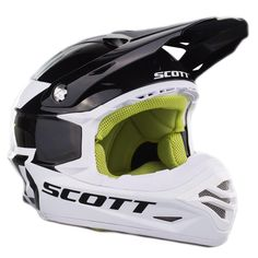 Scott 350 Pro Black/Green Helmet