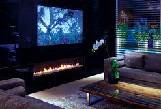 Cheminée design avec foyer fermé http://atredesign.fr #atredesign #cheminée #insert #design #moderne #contemporain #sur_mesure #var #puget #saint_tropez #fréjus #chauffage #déco #cheminées #modèles #marques #foyer