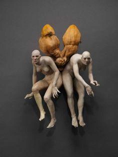 Cristina Cordova, Ascensión amarilla, 2007, Cristina Cordova, figurative ceramic sculpture in clay,