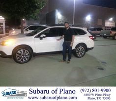https://flic.kr/p/HS7Qsy | Happy Anniversary to Travis on your #Subaru #Outback from Lou Colvin at Subaru of Plano! | deliverymaxx.com/DealerReviews.aspx?DealerCode=K252