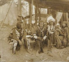 Nez Perce family in camp at the Alaska-Yukon-Pacific Exposition, Seattle, Washington, 1909. :: American Indians of the Pacific Northwest
