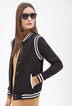 Knit varsity jacket on the hunt Only Fashion, Cute Fashion, Fashion Outfits, Sporty Fashion, Fashion Women, Coats For Women, Jackets For Women, Outerwear Jackets, Bomber Jackets