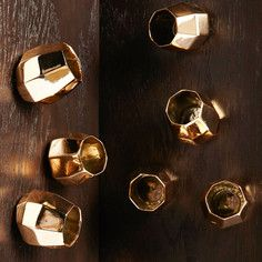 So into this design on Fab! Wall Barnacle Gold Set Of 10 My Home Design, House Design, Living Room Upgrades, Gold Walls, Gold Set, Home Decor Accessories, Home Projects, Modern Decor, Simple Designs