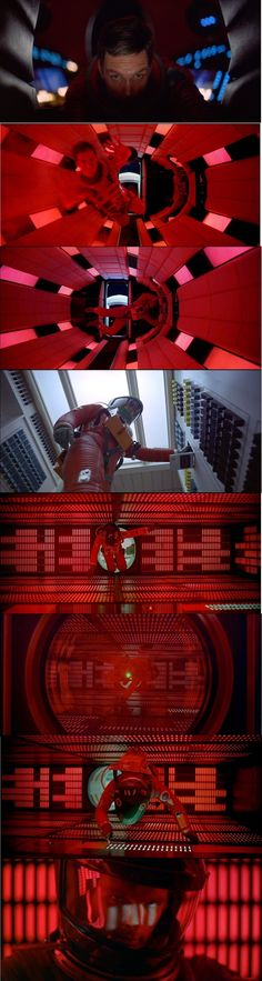Dave enter the ship and disconnects HAL 9000 2001: A Space Odyssey 1968. Notice that Dave's exit from the pod resembles that of a baby leaving a mother's womb.