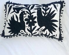 Arte Otomi by ArteOtomi on Etsy Pillow Shams, Bed Pillows, Pillow Covers, Mexican Museum, Mexican Colors, Living Room Pillows, One Color, Hand Embroidery, Decorative Pillows