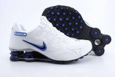 Nike+Shox+NZ+Blue | Nike Shox NZ Mens Mesh Shoes White Blue