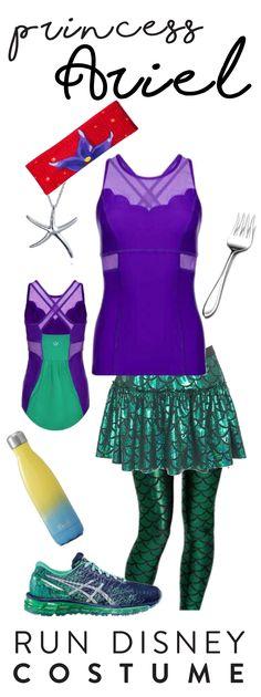 557363b319e41 Ariel Little Mermaid run costume for the run Disney Princess Half Marathon  in Walt Disney World