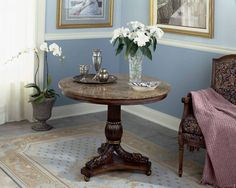 Choose your best foyer round table design that should include unique and wooden…