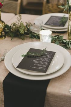 Ace Hotel wedding in Palm Springs wedding reception tablescape with greenery garlands and black and white menus Beach Wedding Reception, Beach Wedding Decorations, Hotel Wedding, Reception Gown, Wedding Mandap, Stage Decorations, Wedding Receptions, Sage Wedding, Spring Wedding