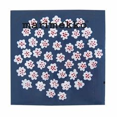 Billowing bouquets of flowers to pat your pout with. Marimekko Puketti Blue/White Lunch Napkins - $6.95