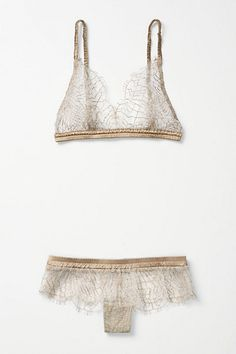 Spun Gold Anthropologie lingerie set