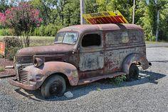 Old Dodge Milk Truck
