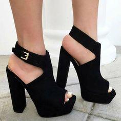 black velvet peep toes