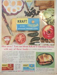 Kraft Cheddar Cheese ~ Australia 1958.