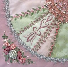I ❤ crazy quilting, beading  ribbon embroidery . . . Gorgeous January 2012 CQJP Block ~By Susie W