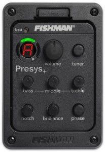 Fishman Presys modeli akustik preamplisi iyi bir ton sağlamanın yanı sıra akort cihazını da gitarınızın üzerinde taşımanızı sağlıyor