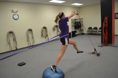 HS softball pitcher doing her thing to generate tons of POWER at the barry lovelace athlete training academy in catasauqua, pa  25% DISCOUNT OFFER BELOW!!     This exercise is from the popular dvd used ALL AROUND THE WORLD, Pitchers POP Training.  25% OFF for pinning with special code!  Simply click the picture or 'Visit Site' box, click Buy Now and enter the coupon code 'pinterest1' and press APPLY.  Enjoy!!