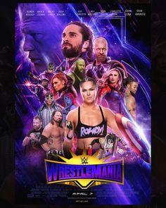 WWE WRESTLEMANIA 35 2019 POSTER Wrestling Superstars, Wrestling Wwe, Wwe Bedroom, Tennis Live, Wrestlemania 29, Wwe Funny, Wwe Seth Rollins, Balor Club, Rowdy Ronda