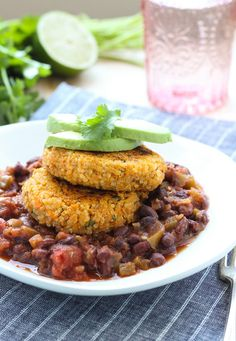 Sweet Potato Quinoa Fritters with Black Bean Salsa (use sprouted-grain breadcrumbs for Phase 3)