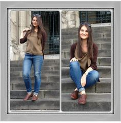 Silk Blouse, Pre Washed Jeans from Zara with Bata Shoes featured by Ella Nicolescu from Romania