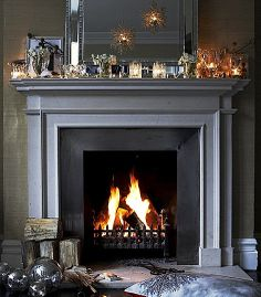Dramatic and cozy fireplace Brabourne Farm Grey Fireplace, Paint Fireplace, Home Fireplace, Fireplace Surrounds, Fireplace Design, Fireplace Mantels, Fireplaces, Fireplace Ideas, Mantles