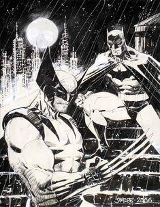 Batman Wolverine by Jim Lee