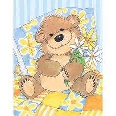 Amazon.com: Suzy's Note Card Collection Stationery, Willy Bear's Daisy - 10857