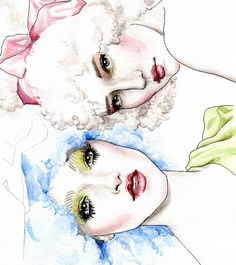 Galliano fashion illustration
