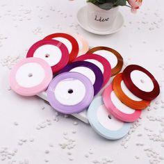 (25 yards/roll ) 0.6cm Single Face Satin Ribbon Wholesale gift packing Christmas ribbons