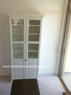 ikea liatorp cabinet with doors assembled in arlington va by furniture assembly experts LLC - call Closet Office, Office Cubicle, Bedroom Office, Small Furniture, Ikea Furniture, Office Furniture, Indoor Sauna, Liatorp, Dining Room Storage