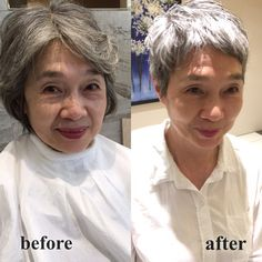 Pin on ヘア Pin on ヘア Curly Hair Cuts, Short Hair Cuts, Short Hair Styles, Bob Haircut With Bangs, Pixie Haircut, Hairstyles For Seniors, Silver Haired Beauties, Short Grey Hair, Girls Life