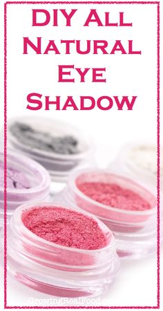 Im so excited about doing this bc i have allergies preventing me from wearing anything-yay-DIY All Natural Eye Shadow | GrowingRealFood.com