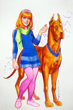 Daphne & Scooby-Doo by Brian Stelfreeze